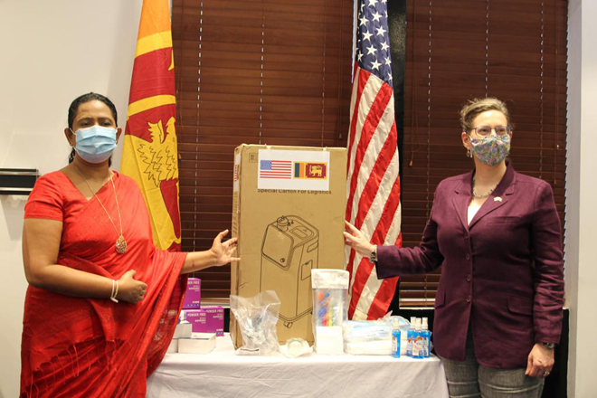 United States donates locally procured Personal Protective Equipment to Sri Lanka