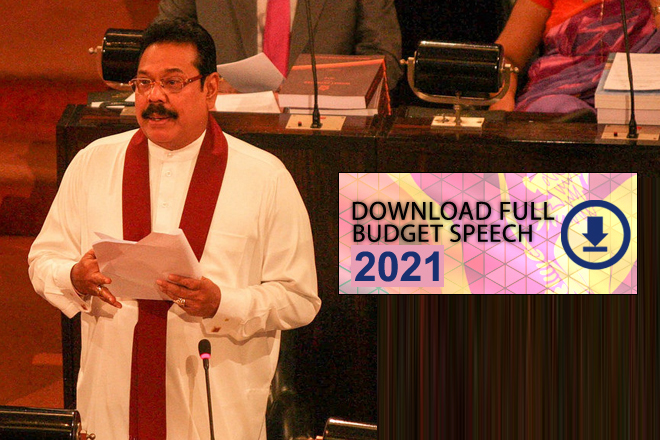 Budget 2021: Download Full Budget Speech