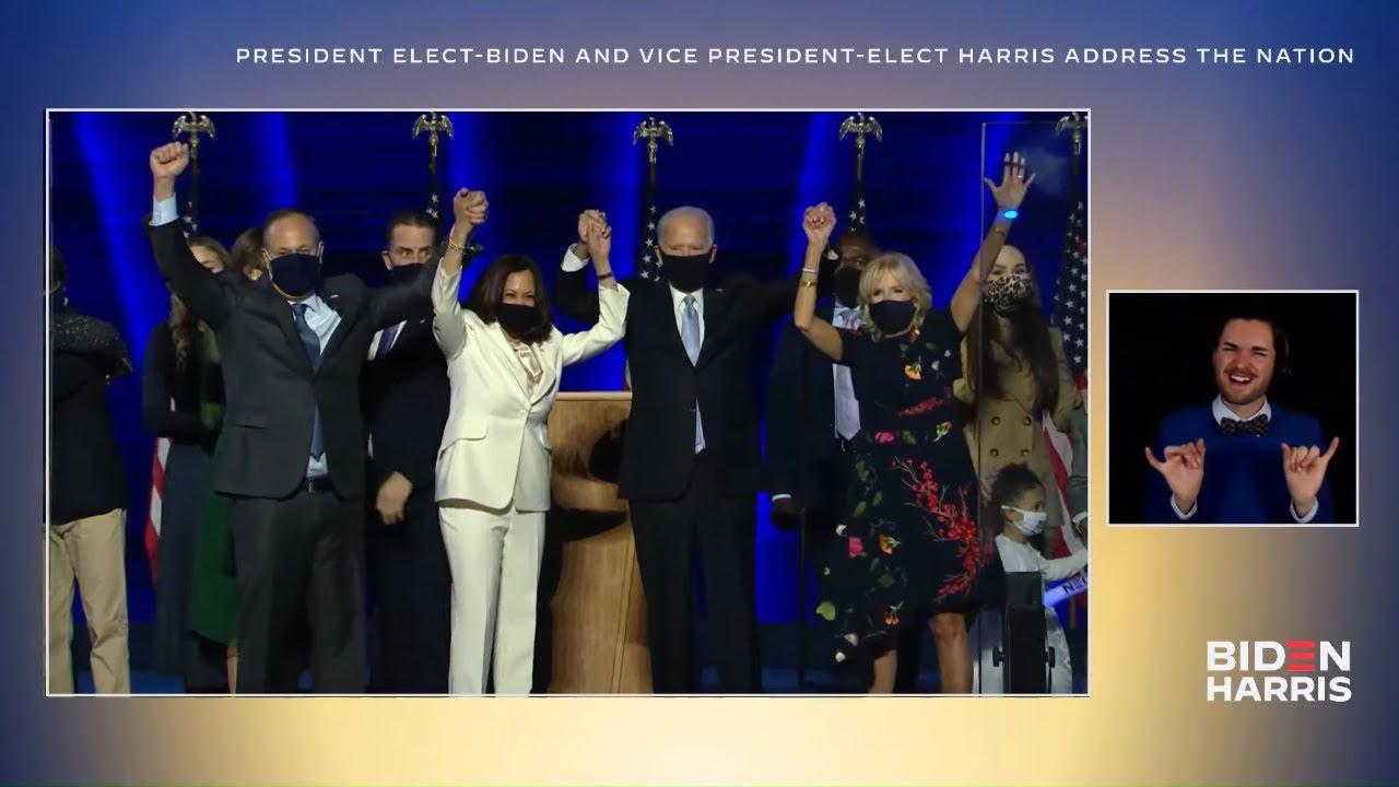 VIDEO: President-Elect Joe Biden & Vice President-Elect Kamala Harris address the Nation