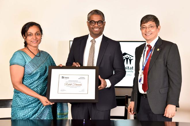 Daraz MD Rakhil Fernando appointed Habitat for Humanity SL Goodwill Ambassador