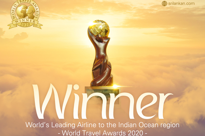 SriLankan Airlines named 'World's Leading Airline to Indian Ocean' at WTA