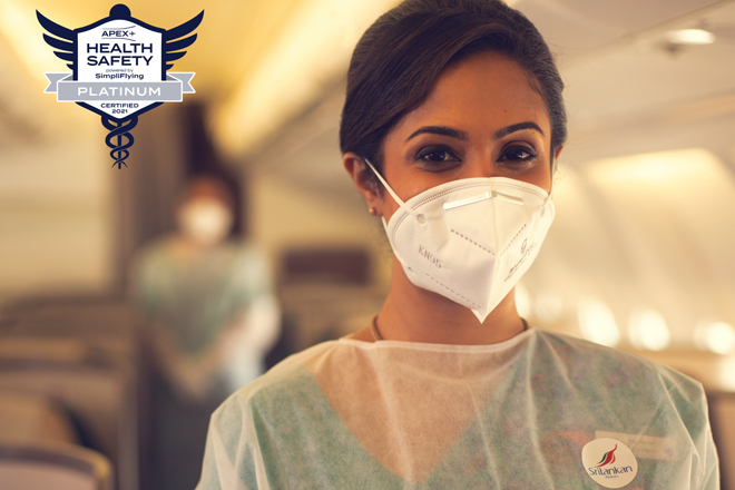 SriLankan Airlines has been awarded Platinum Standard status by APEX Health Safety