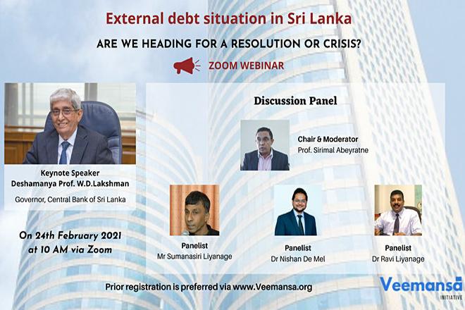 Veemansa policy development & advocacy group to discuss debt sustainability of Sri Lanka