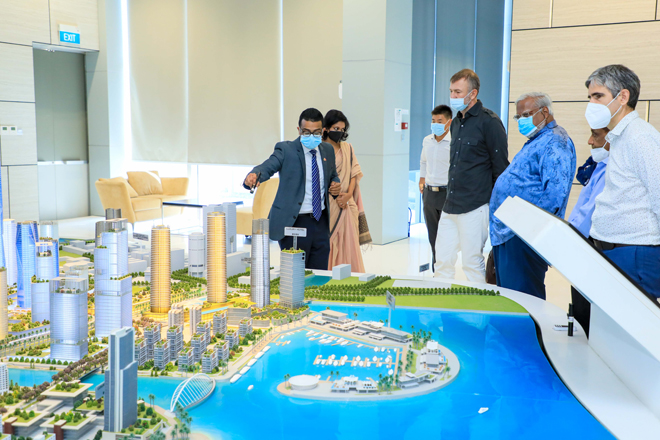 Russian top billionaire Andrey Melnichenko visits Port City Colombo