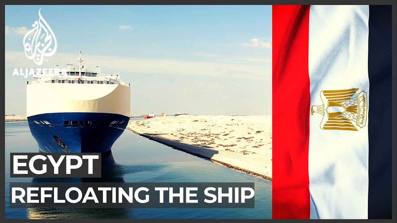 VIDEO: Plan made to use tide to refloat ship blocking Suez Canal