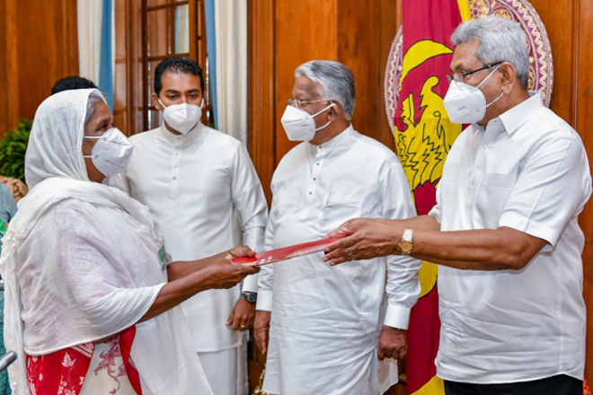 Families possessing govt lands without ownership receive grants