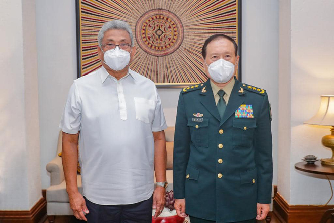 President and Chinese Defence Minister hold bilateral discussions