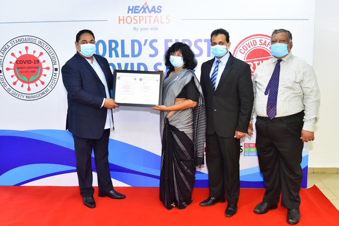 SLSI commends Hemas Hospitals as first hospital in SL to obtain COVID-19 Safety Certification