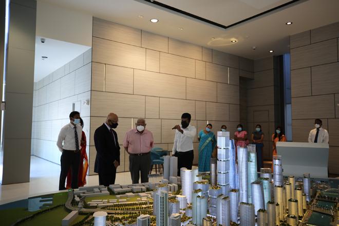 Melstacorp Chairman Harry Jayawardena visits Colombo Port City