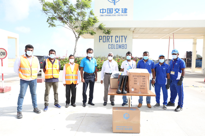 MV X-Press Pearl: Port City Colombo donates Rs. 2 mn worth PPE to support cleanup
