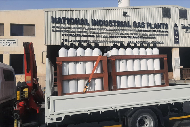 Donation of another 125 Oxygen Cylinders & 10 Oxygen Regulators from Doha-Qatar