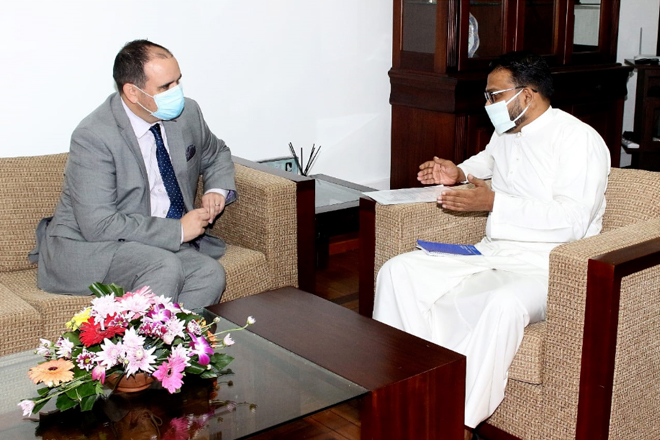 First resident High Commissioner of New Zealand to Sri Lanka paid a courtesy call