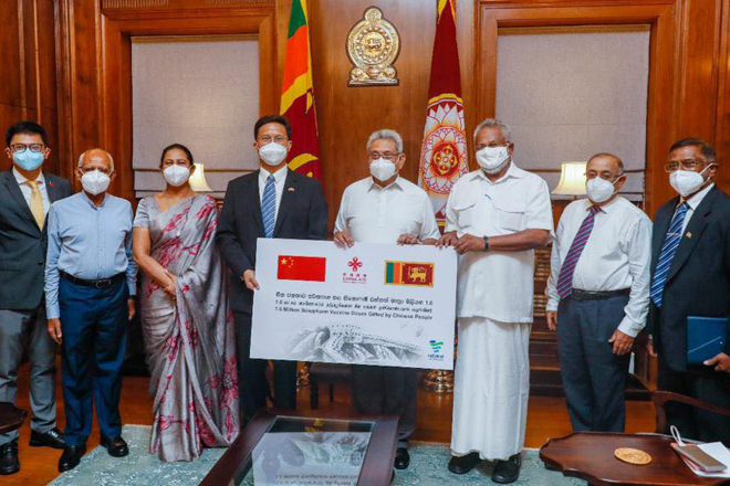 China donates another 1.6mn doses of Sinopharm COVID-19 vaccines to Sri Lanka