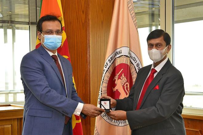Meeting between Central Bank Governor & Bangladesh High Commissioner to Sri Lanka