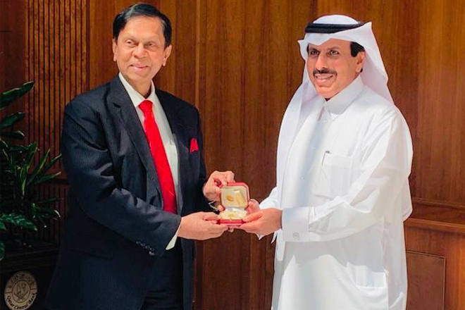 Meeting between CBSL Governor and Governor of Qatar Central Bank
