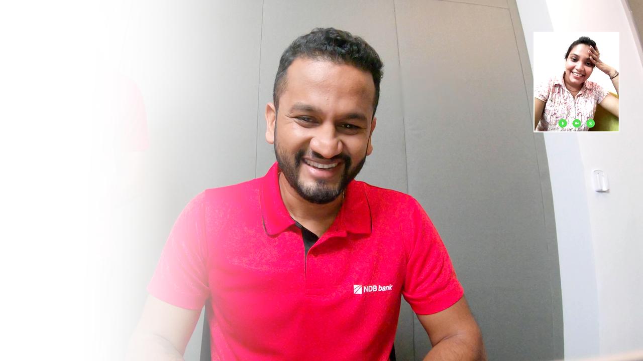 NDB Brand Ambassador Dimuth Karunaratne Surprises the New vKYC Customers