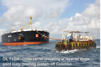 Crude carrier   unloading at SPBM off Colombo  - Lanka Business Online